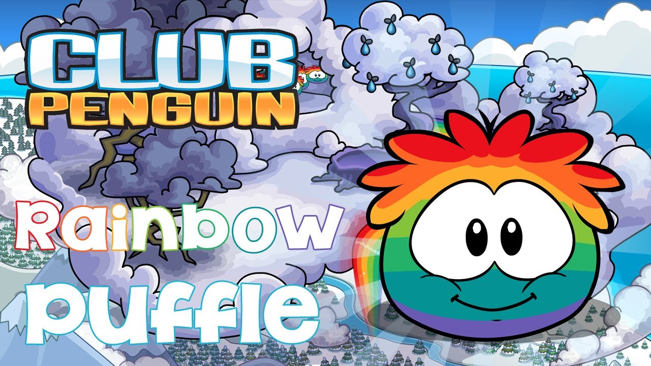 how to get the rainbow puffle in club penguin rewritten