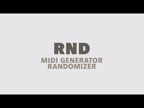 RND MIDI Generator Randomizer