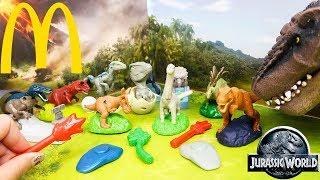 Nova Coleção de Dinossauros do Filme Jurassic World Reino Ameaçado do McDonal's
