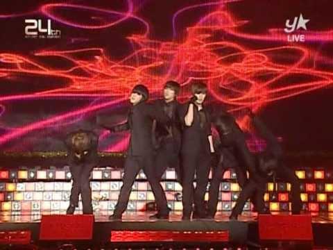 [091210] 2PM - Heartbeat + Again & Again @ Golden Disk Awards