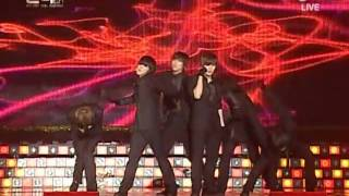 [091210] 2PM - Heartbeat + Again & Again @ Golden Disk Awards