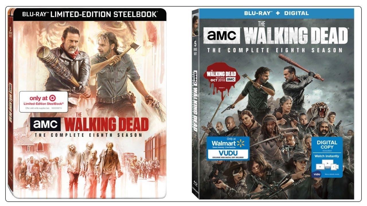 The Walking Dead Season 8 Blu Ray Packaging Reveal Target Steelbook