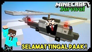 MEMBUAT HELIKOPTER TERAKHIR UNTUK PRESIDEN ! Minecraft Survival #32