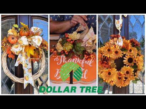 How To Make 3 Small Fall Wreaths 2019  (cheap fall decor ideas)