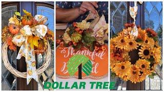 How To Make 3 Small Fall Wreaths 2019  (cheap fall decor ideas)