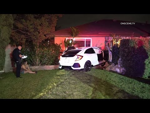 DUI Driver Crashes Into Home In Tustin