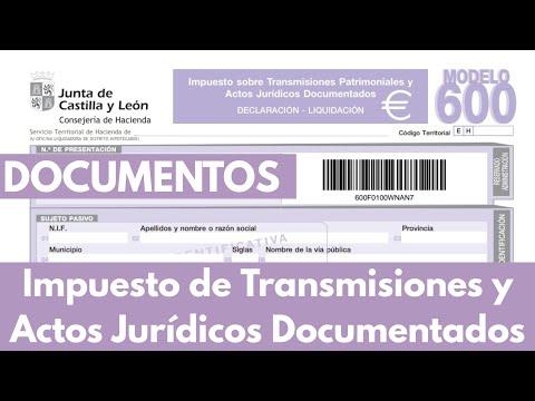 📝 Modelo 600 Impuesto de Transmisiones y Actos Jurídicos Documentados por asesor inmobiliario