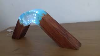 Epoxy Resin and Wood Night Lamp - Resin Art