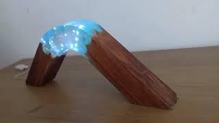 Эпоксидная смола и деревянный ночной светильник - Resin Art
