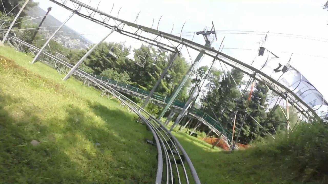 mountain coaster ride, wisp resort, july 20, 2017 - youtube