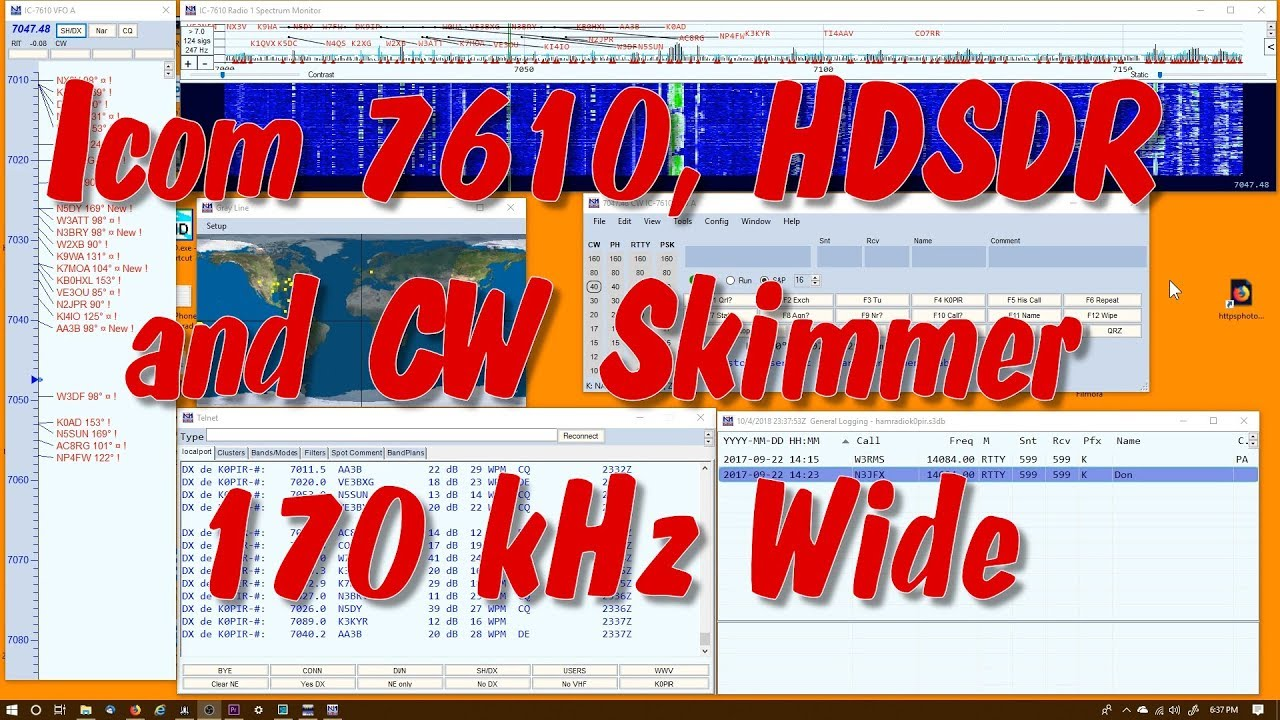 A Powerful CW Tool - CW Skimmer (CWS) 170 kHz Wide - K0PIR