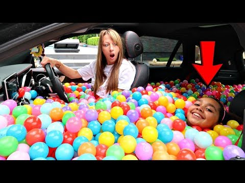 BALL PIT PRANK IN MY MOM'S CAR!! thumbnail