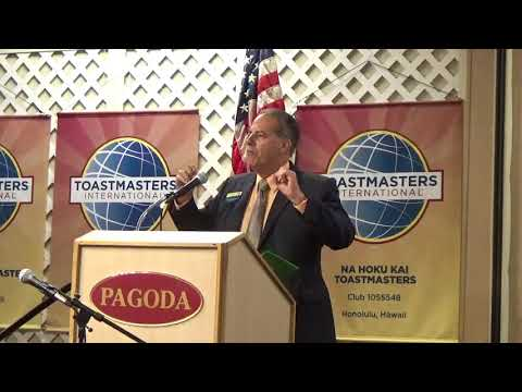 ROBERT CRAVALHO KEYNOTES AT THE TOASTMASTERS FALL CONFERENCE IN HONOLULU, HAWAII