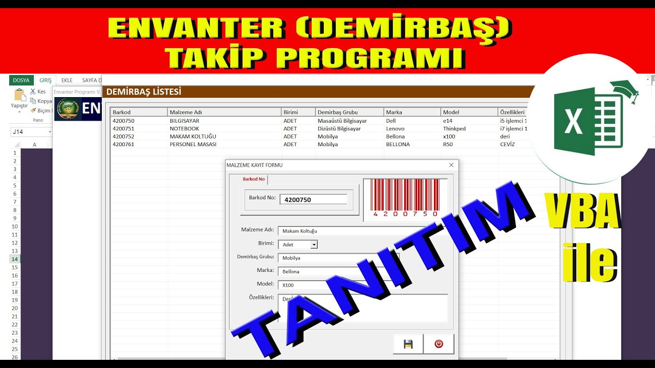 Envanter Demirbaş Takip Programı - TANITIMI