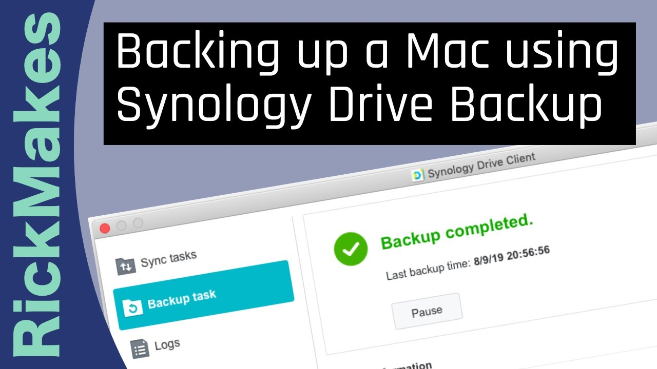 Backing up a Mac using Synology Drive Backup