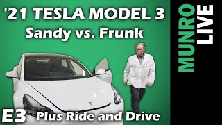 2021 Tesla Model 3: E3 - Sandy Learns How to Close Frunk / Ride & Drive