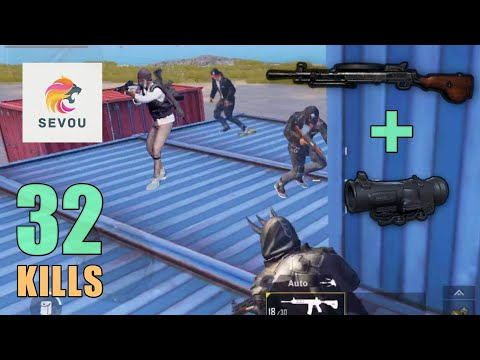 DP-28 + 6x Scope MADNESS!!! | 32 SOLO KILLS | PUBG Mobile