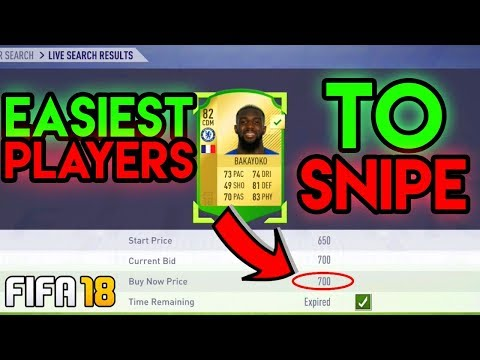 EASIEST PLAYERS TO SNIPE ON FIFA 18 - TRADING METHODS & SNIPING FILTERS! (100K AN HOUR)