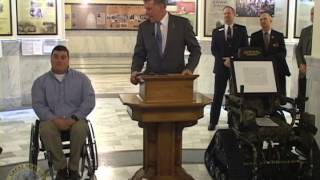 Governor Otter Presents Tracked Wheelchair to Andrew Pike