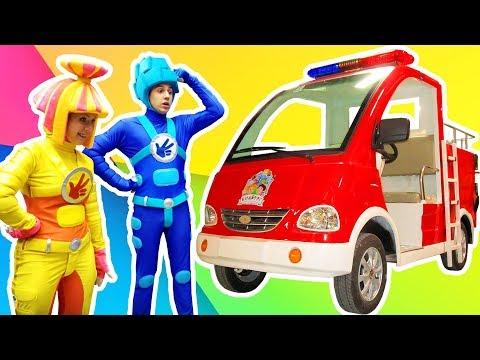Спасатели - Пожарная машина - Фиксики в КидБурге - Городе профессий   Фиксики
