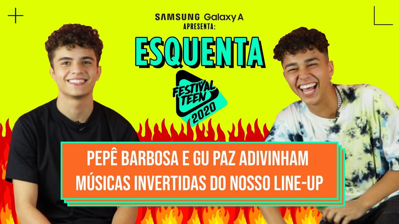 MÚSICA INVERTIDA voltou! GU PAZ e o PEPÊ BARBOSA sabem as músicas do LINE-UP ao contrário?