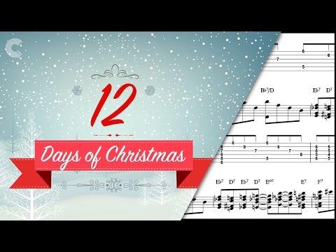 Piano  - The 12 Days of Christmas - Christmas Carol - Sheet Music, Chords, & Vocals