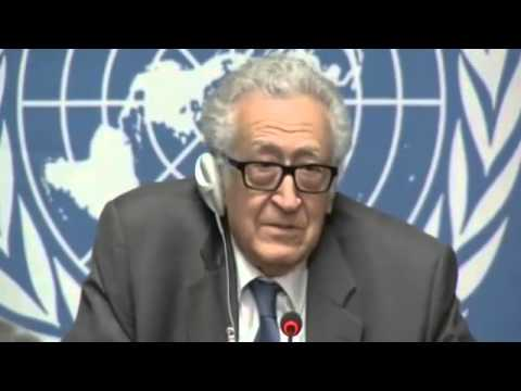 Syrie \ Conférence de presse à Genève de M - Lakhdar Brahimi 26 \ 01 \ 2014