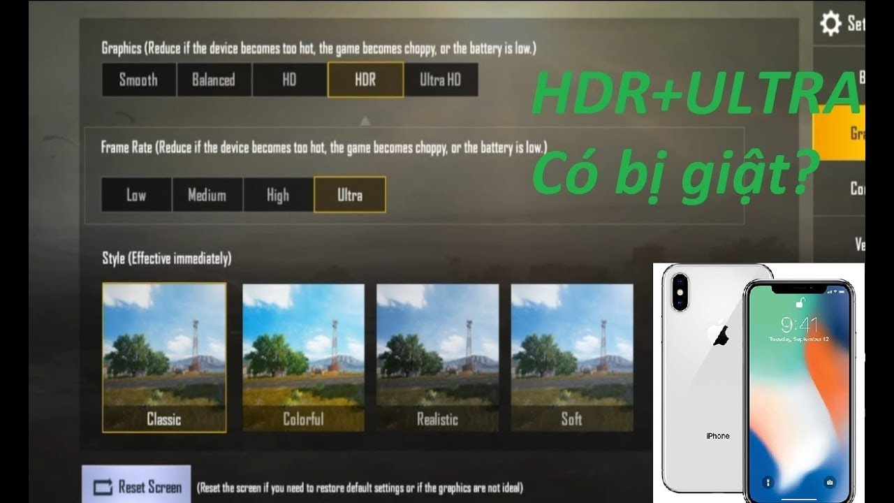 PUBG On IPhone X. Max Setting HDR Ultra HD