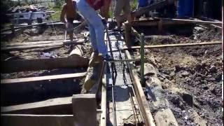 Заливка фундамента каркасного дома(, 2016-06-27T14:51:08.000Z)