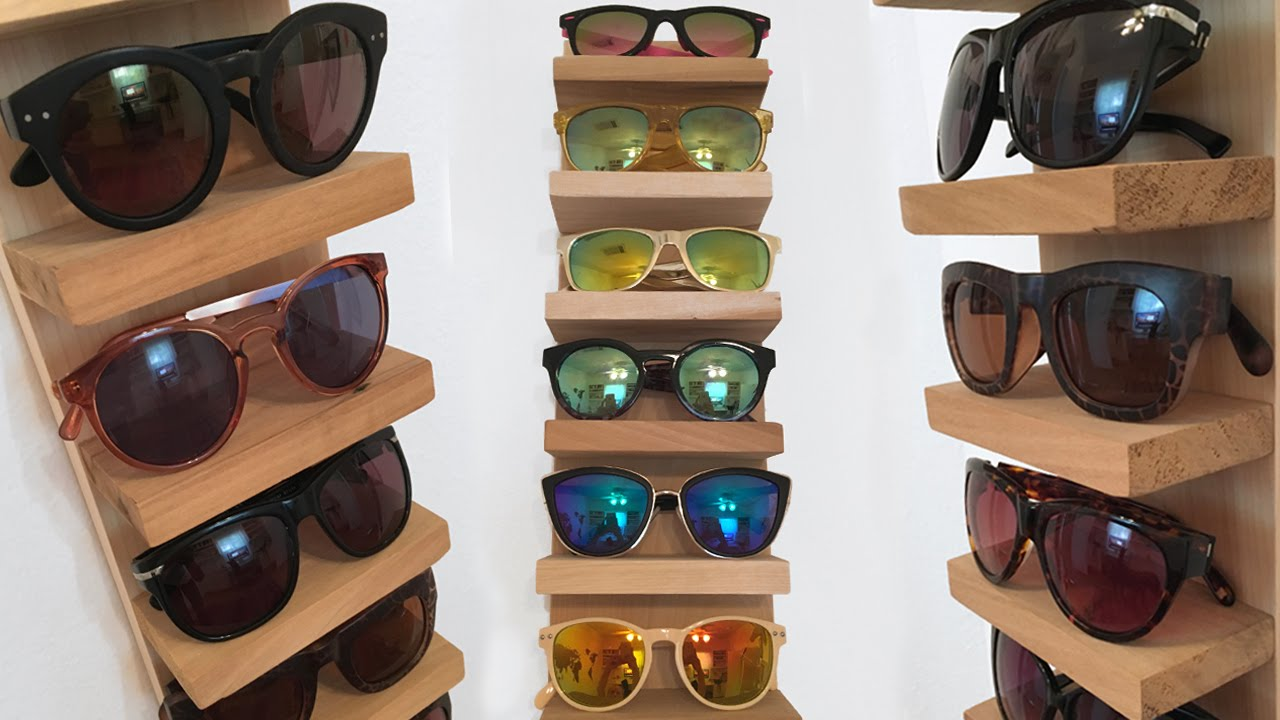 Merveilleux Sunglass Rack/Organizer DIY | Superholly