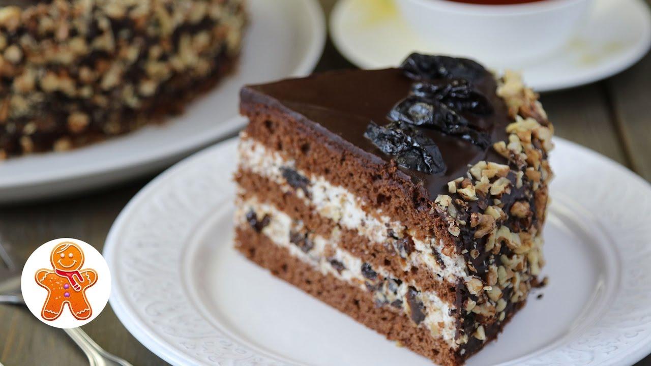 торт чернослив в шоколаде рецепт с фото