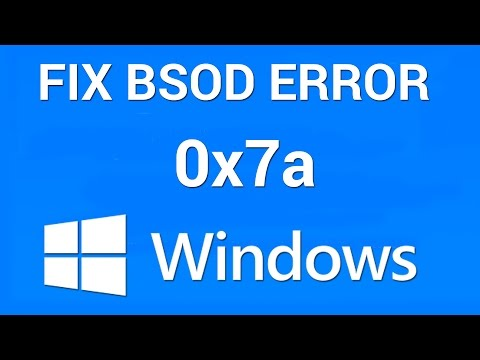 How to Fix BSOD Kernel Data Inpage Error 0x0000007a
