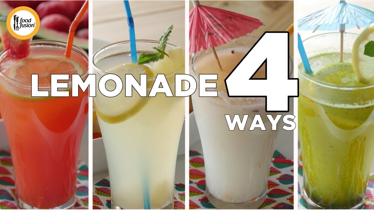 Lemonade 4 Refreshing ways - Recipes by Food Fusion