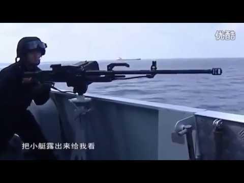 实拍:海盗在中国海军眼皮下劫持商船,遭海军机枪猛烈扫射