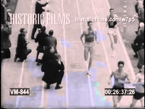 1967 - Jim Ryun laps the entire field in an indoor mile