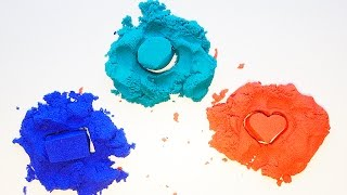 Color Kinetic Sand Modelling Clay And Learn Colors Play Sand for Kids