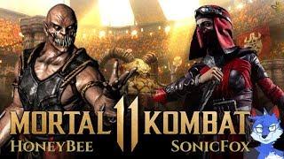 SONICFOX PLAYS SKARLET! Mortal Kombat 11 Gameplay! SonicFox vs HoneyBee! [EXCLUSIVE]