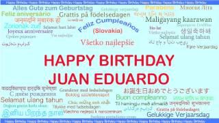 JuanEduardo   Languages Idiomas - Happy Birthday