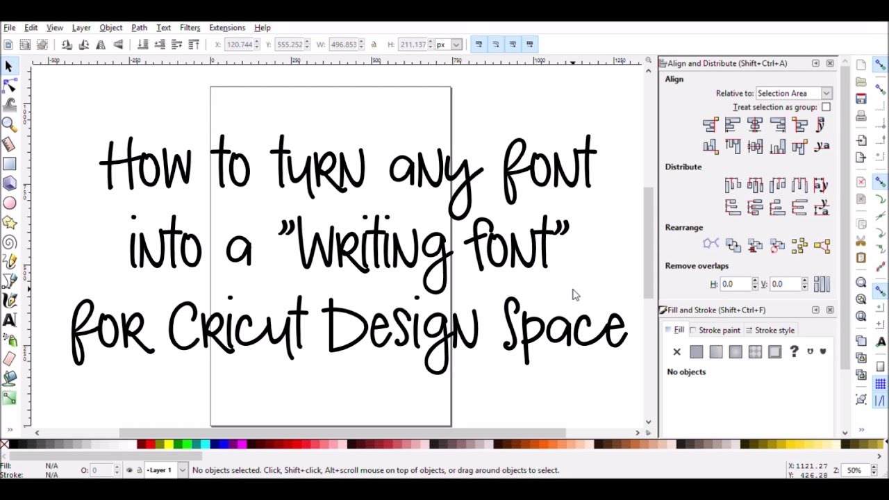 Make Any Font A Writing Font For Cricut Design Space Youtube