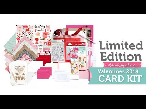 Simon Says Stamp Limited Edition 2018 Valentines Card Kit Reveal
