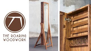 Making A Jewelry Armoire - Standing Mirror // Mid-Century Modern Woodworking // My First Etsy Sale