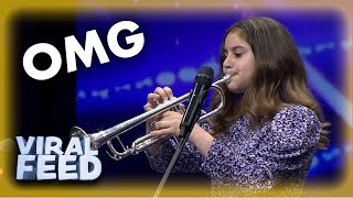 SINGING AND PLAYING THE TRUMPET?! GOLDEN BUZZER !!| VIRAL FEED