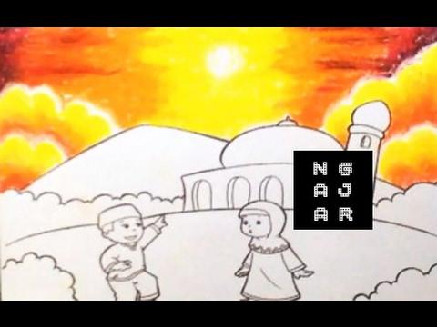 Tehnik Mewarnai Dengan Crayon Awan Sore Untuk Lomba Tk Sd 2 Youtube