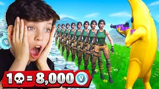 1 Elimination  8000 Free VBucks With My Little Brother Fortnite Battle Royale