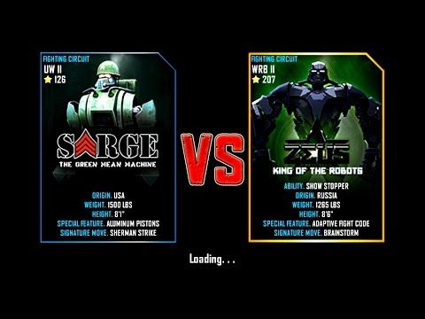 Real Steel WRB Sarge VS Zeus (champion) King Of The Robots NEW UPDATE (Живая Сталь)