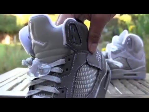 5ae72c27805 Air Jordan V (5) Retro Wolf Grey Review - YouTube