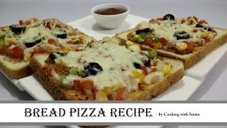 Bread Pizza Recipe in Hindi by Cooking with Smita - How to make Bread Pizza on Tawa