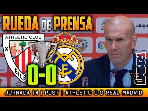 Athletic Bilbao 0-0 Real Madrid Rueda de prensa de Zidane (02/12/2017)   POST LIGA JORNADA 14
