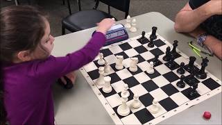 #1 6 Year Old Girl In USCF Putting On The Pressure! Dada vs. Blue Watch