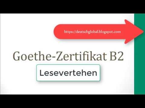 Neu 2019 Goethe Zertifikat B2 Leseverstehen Youtube